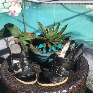 Bandolino Leather Buckle Sandals